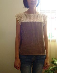 Почти вязаные футболка и платье(DIY) / Вязание / Своими руками - выкройки, переделка одежды, декор интерьера своими руками - от ВТОРАЯ УЛИЦА