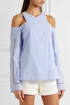 9c5bab966ae Sky-blue cotton-poplin Slips on 100% cotton Dry clean Imported Поплин
