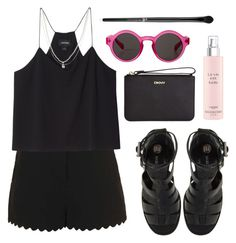 """""""Untitled #1809"""" by katerina-rampota ❤ liked on Polyvore featuring Topshop, Monki, River Island, ASOS, DKNY and Lancôme"""