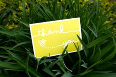 Bumble Bee Thank You Cards in Yellow #stationary