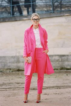 Pink suit! shot by Vanessa Jackman