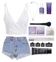 """Picture Perfect"" by midnxght-lavender-xoxo ❤ liked on Polyvore featuring Levi's, ARI, Topshop, LORAC, Essie and NYX"