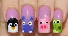 Penguin/Hippo/Pig/Frog Nails - unknown source - don't click through, it's porn