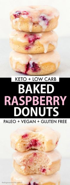 Healthy Baked Raspberry Donuts with a sugar free glaze is the BEST dessert made . - Healthy Baked Raspberry Donuts with a sugar free glaze is the BEST dessert made with easy ingredients! This easy donut recipe is vegan, eggless and gl. Easy Donut Recipe, Baked Donut Recipes, Gluten Free Donut Recipe Baked, Keto Donuts, Healthy Donuts, Yeast Donuts, Sugar Free Donuts, Gluten Free Doughnuts, Gluten Free Desserts
