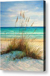 Siesta Key Beach Dunes  Painting by Gabriela Valencia - Siesta Key Beach Dunes  Fine Art Prints and Posters for Sale