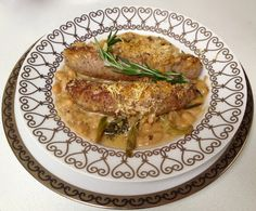 C H E W I N G T H E F A T: Creamy White Bean Gratin with Sausage and Spinach