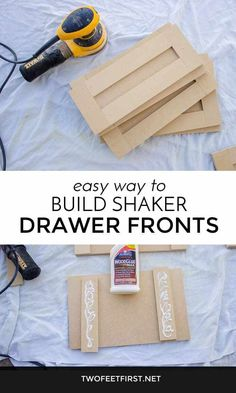Kitchen Cabinets Easy way to build shaker style drawer fronts. - Do you like the look of a shaker style cabinet door? Here is an easy DIY tutorial on how to build shaker style drawer front for you closet system.
