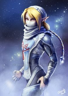 Sheik with a bit of my own spin on her She was my first favorite in super smash bros! Then it was Roy and then Ike