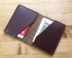 Tan Chromexcel Bifold Leather Wallet