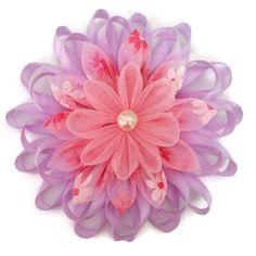 Cinta de raso de color púrpura y rosa Organza por CzechOutMyBows