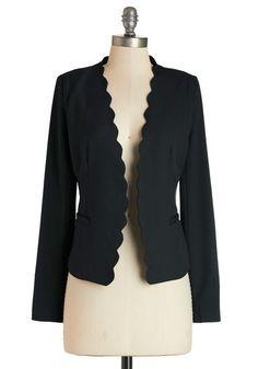 Detour du Jour Blazer in Black | Mod Retro Vintage Jackets | ModCloth.com