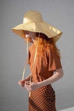 Rejina Pyo Daisy Hat - Butter Yellow on Garmentory Wide Brimmed Hats, Brim Hat, Rejina Pyo, Summer Shirts, Black Heels, Dressing, Feminine, My Style, Yellow