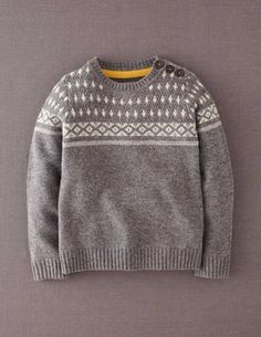 I've+spotted+this+@BodenClothing+Chunky+Sweater+Grey+Marl+Fair+Isle