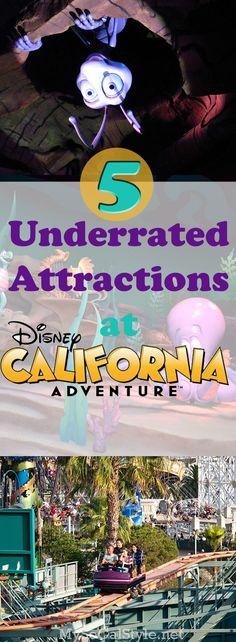 5 Underrated Attractions at Disney's California Adventures Disneyland Tips, Disneyland Park, Disney Tips, Disney Parks, Disney Land, Disney Stuff, Disney Magic, Walt Disney, Disney California Adventure Park