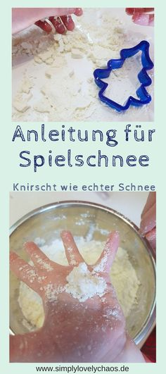 Spiel - Schnee kinderleicht selber machen - Anleitung DIY for children. For the simple instructions for making snow yourself. Playable also in the apartment. Does not melt and crunches like real snow. Winter Crafts For Kids, Winter Kids, Winter Holidays, Diy For Kids, Diy Christmas Decorations, Easy Crafts, Diy And Crafts, Winter Drawings, Fleurs Diy