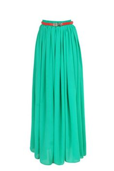 Stephs wedding  Elegant Chiffon Long Skirt Multi Color - OASAP.com