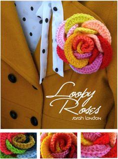 Rosa Colorida de Crochê. / Rose Colored Crochet.