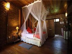 love the mosquito net curtains