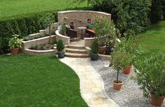Among the most original, impressive decorative and at the same time functional buildings in gardens, country houses with a large outdoor space are stone gazebo without a roof. Garden Deco, Garden Art, Nail Garden, Rustic Gardens, Outdoor Gardens, Pinterest Garden, Pergola Lighting, Garden Seating, Pergola Kits