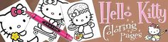 Hello Kitty coloring pages - here you'll find hundreds of coloring pages, paper crafts, activity and worksheets and free printable party invitations. X