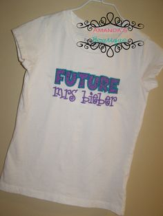 Future Mrs Bieber Embroidered Shirt by AYBoutique on Etsy, $22.00