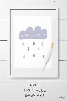 FREE printable baby art with a cute Scandi style cloud by Otto and Pixels. Join the O&P newsletter and get access to this cute printable cloud art (1 newsletter a month). #printables #scandi #nurseryart #nurserydecor #kidsroom #freebie #scandinavian #nur