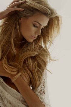 contrast of flowing hair and her wonderful jawline, just love this picture