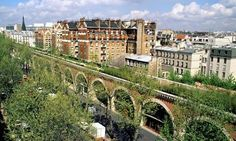"""La Promenade Plantée Roughly translated into English as """"The Green Walkway"""", the promenade is a three mile long green space, built atop an abandoned rail-line. The garden at the end is perfect for a picnic: Jardin De Reuilly (a real hidden treasure)."""