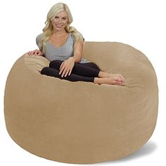 FUF 4 Ft Large Comfort Suede Bean Bag Lounger