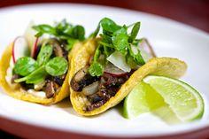 Smoky portobello tacos