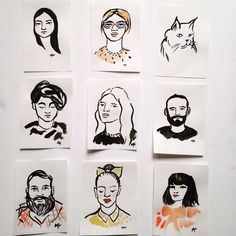 Custom Ink Portraits by MyLittleBelleville on Etsy
