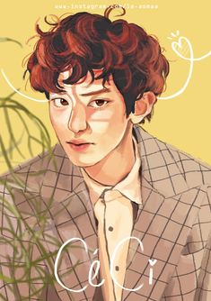 Aesthetic Art, Aesthetic Anime, Exo Cartoon, Exo Anime, Exo Fan Art, Kpop Drawings, Kpop Fanart, Park Chanyeol, Cute Illustration
