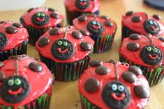 Intentionally Katie: Butterfly Birthday Cake with Ladybug Cupcakes