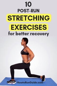 10 post-run stretching exercises to do after your next run (and all runs and workouts) to help avoid injury. Running Routine, Running Workouts, Easy Workouts, Beginner Running, Beginner Yoga, Yoga Routine, Running Tips, Dynamic Stretching Exercises, Pre Workout Stretches
