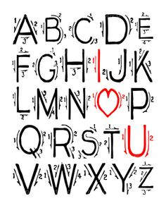 I Love You  Red black and White Quote 8x10 Multi by artstudio54, $25.00