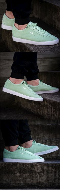 sports shoes 26ae0 ef10f  NIKE  MATCH  CLASSIC  SUEDE –  FRESH  MINT    WHITE