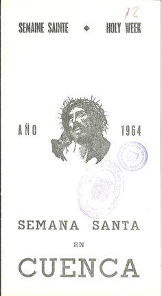 Semana Santa 1964 Programa editado por el Ayuntamiento de Cuenca con textos en español, francés e inglés