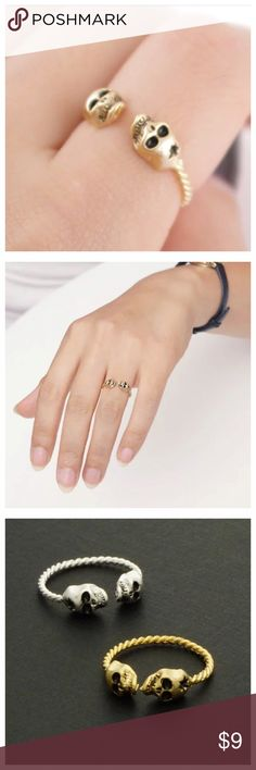 coming soonskull ring l Get it ‼️❤️ Beautiful ring! Like to be notify of the arrival via drop price  ✅Metals Type: Zinc Alloy, Silver Plated, Gold Plated Jewelry Rings