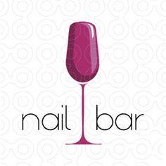 nail bar logo type wine logo bar logo logo design identity design logo ideas salon ideas nail shop - Nail Salon Logo Design Ideas