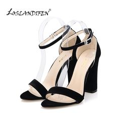 Newest Women Pumps Open Toe Sexy Ankle Straps High Heels Shoes Summer Ladies Bridal Suede Thick Heel Sandals 368-1VE  #me #men #sexyshoes #gloves #photooftheday #fashion #trendy #wedding #baby #smartwatch #love #money #kids #bride #sunshades