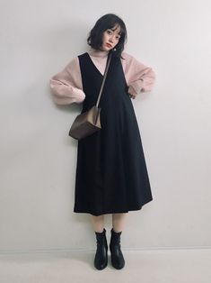 Modest Dresses, Modest Outfits, Modest Fashion, Fashion Dresses, Cute Outfits, Long Skirt Fashion, Korea Fashion, Asian Fashion, Look Fashion
