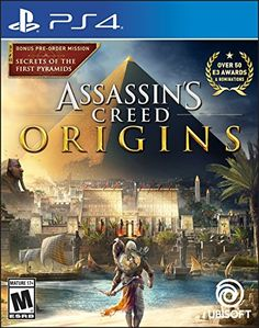 This is the Assassin's Creed Origins video game where players are taken on an adventure. It was developed and released in 2017 by the Ubisoft brand for the PlayStation 4 console. It is sold in a package that measures inches by inches by inches Xbox One S, Xbox One Games, Ps4 Games, Games Consoles, Playstation Games, Last Of Us, Assassins Creed Origins, Pc Ps4, Gamer Gifts
