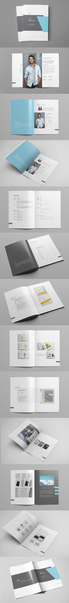 Professional & Creative Multipurpose Portfolio Template AI, EPS, INDD, PSD - 28 Pages, A4 & US letter Size