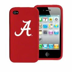 Alabama Crimson Tide iPhone 4 and 4S Case: Silicone Cover by Tribeca. $24.99. Silicone Shield designed to fit Apple iPhone 4 and 4S. Durable, laser-engraved logo. Easy access to all ports & screen. Officially licensed by the NCAA. This Alabama Crimson Tide iPhone 4 and 4S Case: Silicone Skin is made of durable silicone and feels as good as it looks. The logo is laser-engraved so it won't fade or rub-off. *Silicone Shield designed to fit the Apple iPhone 4 *Dur...