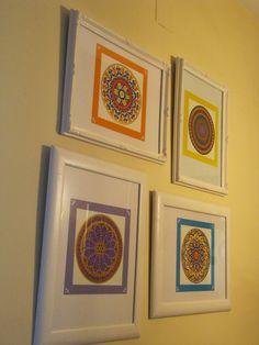 Detesto el espumillón: Mandalas coloridos hechos por Samy y enmarcados pa...
