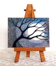 Original art ACEO Shimmering Watercolor Tree Cross by martaharvey, $12.00