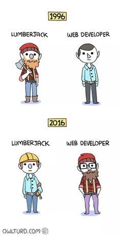 Lumberjack and web developer