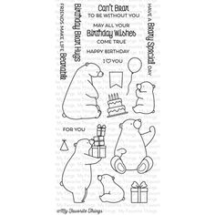 My Favorite Things BIRTHDAY BEARS Clear Stamps BB21