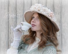 Edwardian Hat / Wide Brim Picture Hat / by GreenTrunkDesigns