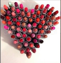 A heart made out of MAC lipstick My life.